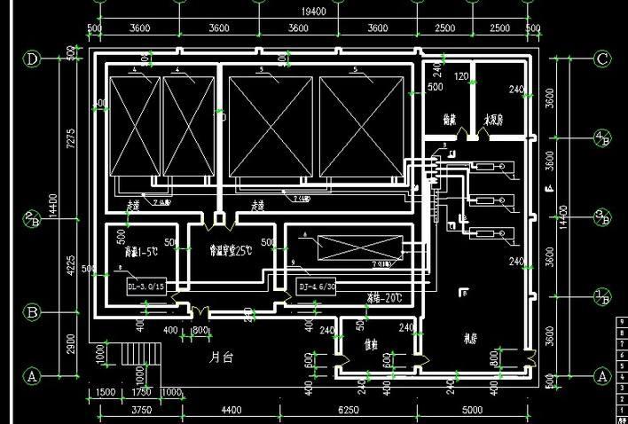 冷库一拖二电路设计:一台压缩机带两个同温度库房,库房用风机,两库不图片
